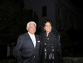 "Washington, DC - October 13, 2009 -- Performers Pete Escovedo (L) and Sheila E. attend a White House Music Series ""Fiesta Latina"" on the South Lawn of the White House in Washington on Tuesday, October 13, 2009. .Credit: Alexis C. Glenn / Pool via CNP"