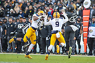 Baltimore, MD - December 10, 2016: Navy Midshipmen cornerback Jarid Ryan (9) intercepts a pass during game between Army and Navy at  M&T Bank Stadium in Baltimore, MD.   (Photo by Elliott Brown/Media Images International)