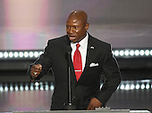 Darryl Glenn, Republican candidate for United States Senate from Colorado at the 2016 Republican National Convention held at the Quicken Loans Arena in Cleveland, Ohio on Monday, July 18, 2016.<br /> Credit: Ron Sachs / CNP<br /> (RESTRICTION: NO New York or New Jersey Newspapers or newspapers within a 75 mile radius of New York City)