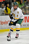 16 February 2008: University of Vermont Catamounts' defenseman Patrick Cullity, a Sophomore from Tewsbury, MA, in action against the Merrimack College Warriors at Gutterson Fieldhouse in Burlington, Vermont. The Catamounts defeated the Warriors 2-1 for their second win of the 2-game weekend series...Mandatory Photo Credit: Ed Wolfstein Photo