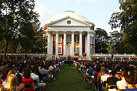 The rotunda during the opening ceremony for a new class at the University of Virginia in Charlottesville, VA.