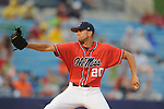 Ole Miss' Matt Crouse vs. Auburn during the Southeastern Conference tournament at Regions Park in Hoover, Ala. on Friday, May 28, 2010.  (AP Photo/Oxford Eagle, Bruce Newman)
