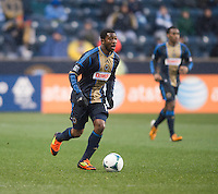 Amobi Okugo.  The Philadelphia Union defeated the New England Revolution, 1-0, at PPL Park in Chester, PA.