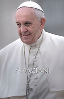 Pope Francis during his weekly general audience in St. Peter square at the Vatican, Wednesday.October 15, 2014