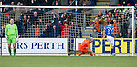 St Johnstone v Dundee United...11.02.12.. SPL.Callum Davidson's own goal makes it 2-1.Picture by Graeme Hart..Copyright Perthshire Picture Agency.Tel: 01738 623350  Mobile: 07990 594431
