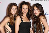 """Andie MacDowell & daughters at the """" Diana Vreeland """" screening in Los Angeles"""
