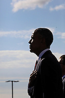 WASHINGTON DC - SEPTEMBER 11: United States President Barack Obama attends the Pentagon Memorial in Washington, DC during an observance ceremony to commemorate the 15th anniversary of the 9/11 terrorist attacks, Sunday, September 11, 2016.<br /> Credit: Dennis Brack / Pool via CNP/MediaPunch