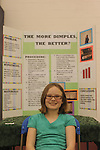 Lafayette Elementary student Lily Elliott at a science fair at Ole Miss' IPF in Oxford, Miss. on Wednesday, March 24, 2010. Ole Miss won 90-87 in triple overtime.