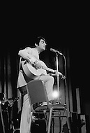 Manhattan, New York City, USA. February 17th, 1968. French singer Enrico Macias performing during his first concert in the U.S. at New York's Carnegie Hall.