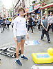 Tomba <br /> <br /> Indian Ocean Row 2017 - Tomba is aiming to be the first person ever to row across the Indian Ocean from mainland Australia to mainland Africa. 9000 km of wide open sea.<br /> <br /> Francesco Piercy Tomba<br /> has embarked on a fund-raising tour and to raise awareness ahead of his challenge to row the Indian Ocean in 2017 outside Leicester Square Tube station, London, Great Britain <br /> 11th August 2016 <br /> <br /> Further details about Tomba on his website http://www.whereistomba.com/<br /> <br /> Photograph by Elliott Franks <br /> Image licensed to Elliott Franks Photography Services