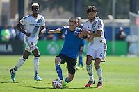Santa Clara, California - September, 14 2014: San Jose Earthquakes face off against LA Galaxy at Buck Shaw Stadium on Sunday.