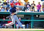 5 March 2009: Washington Nationals' infielder Alberto Gonzalez in action during a Spring Training game against the Detroit Tigers at Joker Marchant Stadium in Lakeland, Florida. The Tigers defeated the visiting Nationals 10-2 in the Grapefruit League matchup. Mandatory Photo Credit: Ed Wolfstein Photo