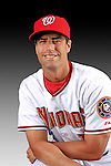 25 February 2007: Washington Nationals infielder Travis Lee poses for his Photo Day portrait at Space Coast Stadium in Viera, Florida.<br /> <br /> Mandatory Photo Credit: Ed Wolfstein Photo<br /> <br /> Note: This image is available in a RAW (NEF) File Format - contact Photographer.