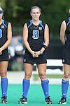 26 September 2014: Duke's Savannah Story. The Duke University Blue Devils hosted the University of California Bears at Jack Katz Stadium in Durham, North Carolina in a 2014 NCAA Division I Field Hockey match. Duke won the game 2-0.