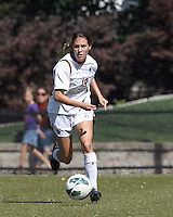 Boston College midfielder Rosie DiMartino (19) looks to pass.Virginia Tech (maroon) defeated Boston College (white), 1-0, at Newton Soccer Field, on September 22, 2013.