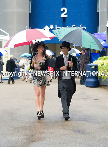 """ROYAL ASCOT 2011 DAY 5..Hats and Fashions, any footwear was permited on the final day at Royal Ascot due to heavy rains_18/06/2011..Mandatory Photo Credit: ©Dias/Newspix International..**ALL FEES PAYABLE TO: """"NEWSPIX INTERNATIONAL""""**..PHOTO CREDIT MANDATORY!!: NEWSPIX INTERNATIONAL(Failure to credit will incur a surcharge of 100% of reproduction fees)..IMMEDIATE CONFIRMATION OF USAGE REQUIRED:.Newspix International, 31 Chinnery Hill, Bishop's Stortford, ENGLAND CM23 3PS.Tel:+441279 324672  ; Fax: +441279656877.Mobile:  0777568 1153.e-mail: info@newspixinternational.co.uk"""