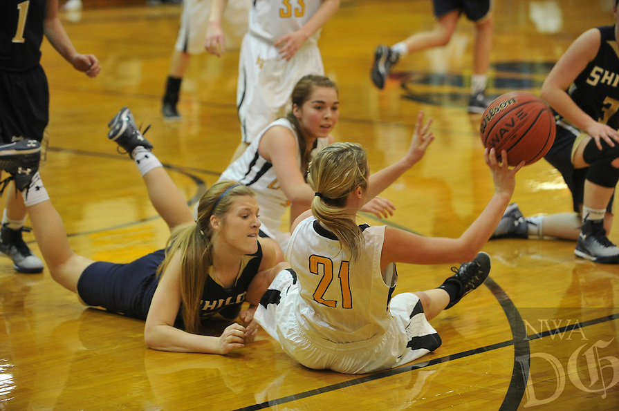NWA Media/Michael Woods --01/06/2015-- w @NWAMICHAELW...Prairie Grove girls vs Shiloh christian during Tuesday nights game at Prairie Grove High school.