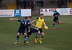 Forfar Athletic 1 Edinburgh City 2, 02/02/2017. Station Park, SPFL League 2. The visitors winning goalscorer Lewis Allan in action during the second-half at Station Park, Forfar during the SPFL League 2 fixture between Forfar Athletic and Edinburgh City (yellow). It was the club's sixth and final meeting of City's inaugural season since promotion from the Lowland League the previous season. City came from behind to win this match 2-1, watched by a crowd of 446. Photo by Colin McPherson.
