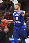 MILWAUKEE, WI - MARCH 16:  Middle Tennessee Blue Raiders guard Tyrik Dixon (0) gestures to his teammates during the second half of the 2017 NCAA Men's Basketball Tournament held at BMO Harris Bradley Center on March 16, 2017 in Milwaukee, Wisconsin. (Photo by Jamie Schwaberow/NCAA Photos via Getty Images)