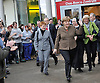 """march 22-16, German Chancellor Angela Merkel visits the  """"Menage'"""" vocational training school at the"""