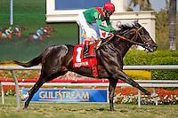 Howe Great(1) with jockey John Velazquez winning the Palm Beach Stakes(G3T) at Gulfstream Park, Hallandale Beach Florida. 03-11-2012