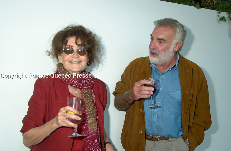August 23,  2002, Montreal, Quebec, Canada<br /> <br /> Nina Companeez (L)  and ANTONIO BETANCOR (R) <br /> member of  the Jury of the 2002 Montreal World Films Festival, held Aug 22 to Sept 2 2002  in  Montreal, Quebec, Canada, at the Telefilm Canada Reception<br /> <br /> Born in 1944, Antonio Betancor brought a new elan to the Spanish cinema in the late 1970s and early 1980s with such films as Sitting on the Edge of Tomorrow With One's Feet Hanging (1978) and VALENTINA (1982), both winners of prestigious prizes in Spain. His latest film, MARAR&Otilde;A (1998), adapted from the novel by Rafael Arozarena on life in the Canary Islands in the 1940s, was shown in a score of festivals worldwide. It won the Goya (the Spanish Oscar) for best cinematography as well as first prize at the 1999 Miami Hispanic Film Festival.