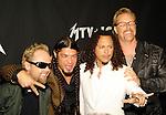 Metallica 2003 Lars Ulrich, Robert Trujillo, Kirk Hammett and James Hetfield at MTV Icons
