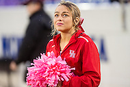 Annapolis, MD - OCT 8, 2016: Houston Cougars cheerleader is worried about Houston chances of winning after Navy scores a late touchdown during game between Houston and Navy at Navy-Marine Corps Memorial Stadium Annapolis, MD. The Midshipmen upset #6 Houston 46-40. (Photo by Phil Peters/Media Images International)