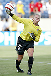 3 July 2004: Kristin Luckenbill earned a shutout in her first international start. The United States beat Canada 1-0 at the The Coliseum in Nashville, TN in an womens international friendly soccer game...