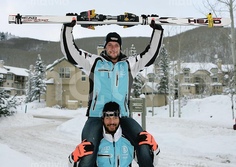 Ski Alpin; Saison 2006/2007  Abfahrt Herren DSV Abfahrer; Stephan Keppler (oben) und Johannes Stehle