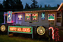 WA07264-00...WASHINGTON - House decorated for Christmas in Edmonds.