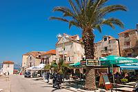 Restaurants in Supetar harbour, Bra? island, Croatia