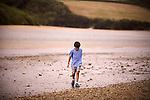 Cornish river scene with boy - EXCLUSIVELY AVAILABLE HERE