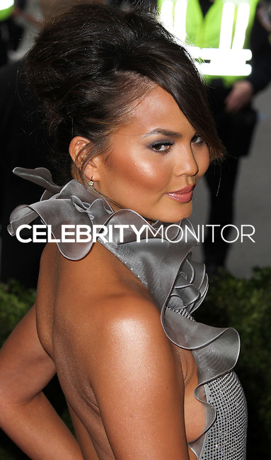 """NEW YORK CITY, NY, USA - MAY 05: Chrissy Teigen at the """"Charles James: Beyond Fashion"""" Costume Institute Gala held at the Metropolitan Museum of Art on May 5, 2014 in New York City, New York, United States. (Photo by Xavier Collin/Celebrity Monitor)"""