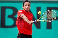Nicolas Almagro (ESP) (19) against Fernando Verdasco (ESP) (7) in the third round of the men's singles. Nicolas Almagro beat Fernando Verdasco 6-1 4-6 6-1 6-4..Tennis - French Open - Day 9 - Mon 31 May 2010 - Roland Garros - Paris - France..© FREY - AMN Images, 1st Floor, Barry House, 20-22 Worple Road, London. SW19 4DH - Tel: +44 (0) 208 947 0117 - contact@advantagemedianet.com - www.photoshelter.com/c/amnimages