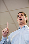 Republican presidential hopeful Rick Santorum speaks at a campaing stop on Thursday, July 28, 2011 in Fort Madison, IA.