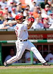 11 April 2006: Royce Clayton, shortstop for the Washington Nationals, at bat during the Nationals' Home Opener against the New York Mets in Washington, DC. The Mets defeated the Nationals 7-1 to start the 2006 season at RFK Stadium...Mandatory Photo Credit: Ed Wolfstein Photo..