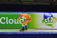 SCHAATSEN: HEERENVEEN: 28-09-2013, IJsstadion Thialf, Trainingwedstrijd, ©foto Martin de Jong