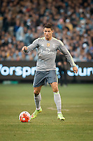 Melbourne, 24 July 2015 - Cristiano Ronaldo of Real Madrid controls the ball in game three of the International Champions Cup match between Manchester City and Real Madrid at the Melbourne Cricket Ground, Australia. Real Madrid def City 4-1. (Photo Sydney Low / AsteriskImages.com)