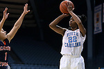 05 November 2014: North Carolina's N'Dea Bryant (22). The University of North Carolina Tar Heels hosted the Carson-Newman University Eagles at Carmichael Arena in Chapel Hill, North Carolina in an NCAA Women's Basketball exhibition game. UNC won the game 88-27.