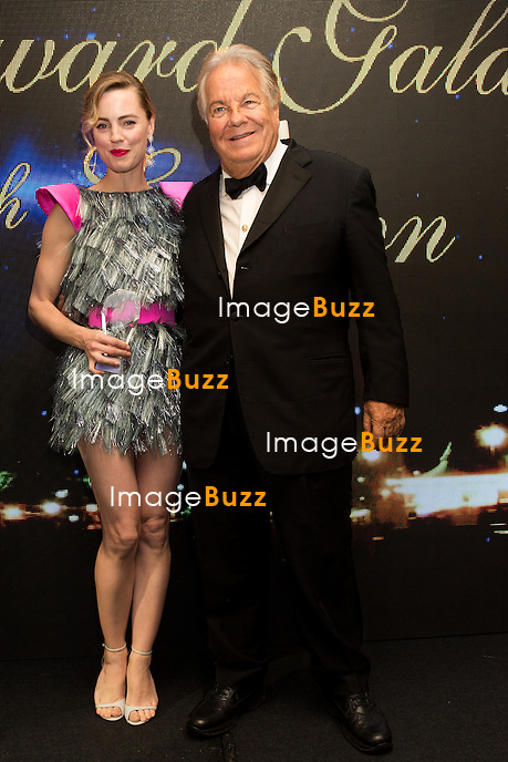 Melissa George &amp; Massimo Gargia: &quot; The Best &quot; 40th Edition &agrave; l'h&ocirc;tel George V.<br /> France, Paris, 27 janvier 2017.<br /> ' The Best ' 40th Edition at the George V hotel in Pais.<br /> France, Paris, 27 January 2017