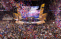 CLEVELAND, OH - JULY 21:  The celebration after Republican nominee Donald Trump delivers his keynote address at the Republican Convention, July 21, 2016 at the Quicken Loans Arena in Cleveland, Ohio.  (Photo by Brooks Kraft/ Getty Images)