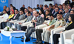 Egyptian President Abdel Fattah al-Sisi, attends the Third Youth Conference, in Ismailia, Egypt, on April 26, 2017. Photo by Egyptian President Office