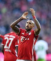 Fussball  1. Bundesliga  Saison 2016/2017  14. Spieltag  FC Bayern Muenchen - VfL Wolfsburg    10.12.2016 JUBEL FC Bayern Muenchen; Arturo Vidal