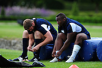 Beno Obano of Bath Rugby looks on. Bath Rugby pre-season training session on August 9, 2016 at Farleigh House in Bath, England. Photo by: Patrick Khachfe / Onside Images
