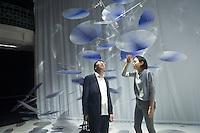 Nao Tamura and Toyo Ito in ti Interconnection work during the Lexus Design Amazing 2014, on April 08, 2014. Photo: Adamo Di Loreto/BuenaVista*photo