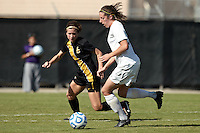 SAN ANTONIO, TX - NOVEMBER 2, 2011: Game 2 of the 2011 Big 12 Conference Women's Soccer Championship Quarterfinals featuring the Baylor University Bears vs. the University of Missouri Tigers at the Blossom Soccer Stadium. (Photo by Jeff Huehn)