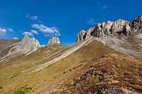 Snowden mountain, Brooks range mountains, arctic, Alaska.