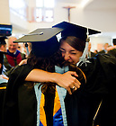 July 9, 2011; Alliance for Catholic Education graduates celebrate after the 2011 ACE Commencement...Photo by Matt Cashore/University of Notre Dame