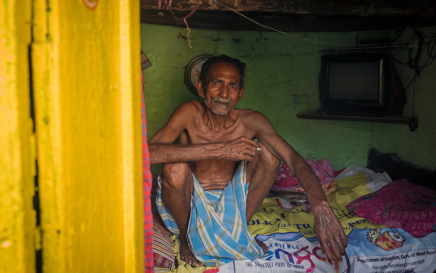 Living Quarters In the poverty stricken area of Kolkata. Life in the streets of Kolkata, West Bengal, India